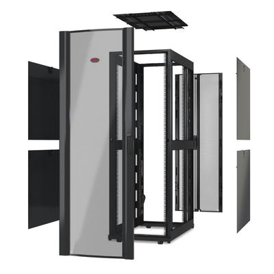 """APC NetShelter SX 42U 600mm(b) x 1070mm(d) 19"""" IT, behuizing zonder deuren & zijpanelen, zwart Rack"""