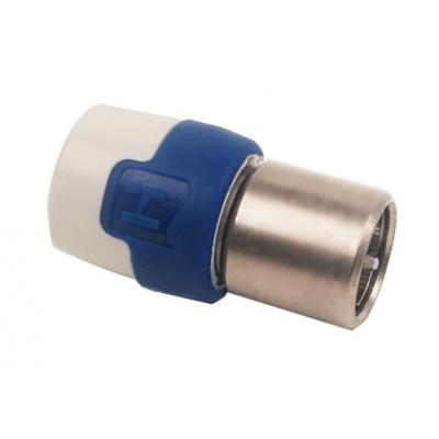 Hirschmann coaxconnector: Quick fix f connector QFC 5 shop - Blauw, Brons, Wit
