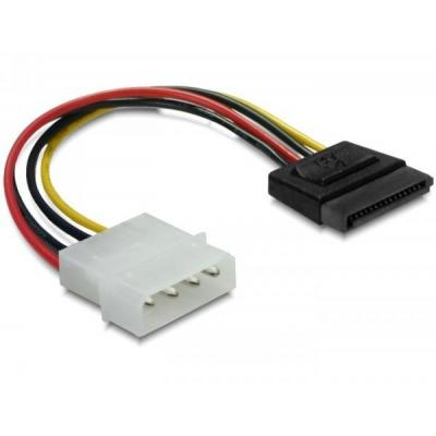 Delock ATA kabel: 15pin SATA > 4pin straight Cable