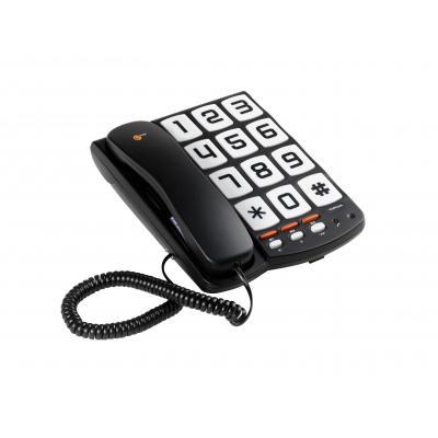 Topcom dect telefoon: TS-6650 Telefoon met grote toetsen - Zwart, Wit