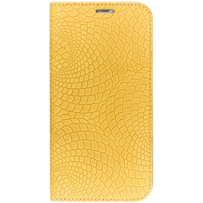 Snake Booktype Samsung Galaxy S6 - Geel / Yellow Mobile phone case