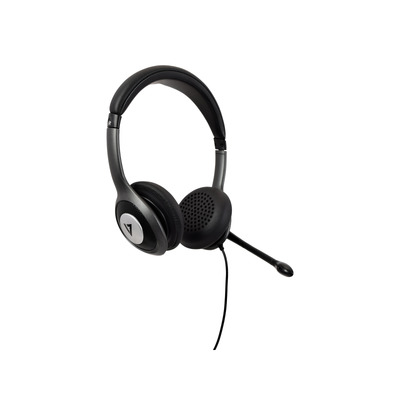 V7 USB-C Deluxe with Noise Cancelling Mic, Volume Control, Digital, Laptop Computer, Chromebook, PC - Black, Gray .....