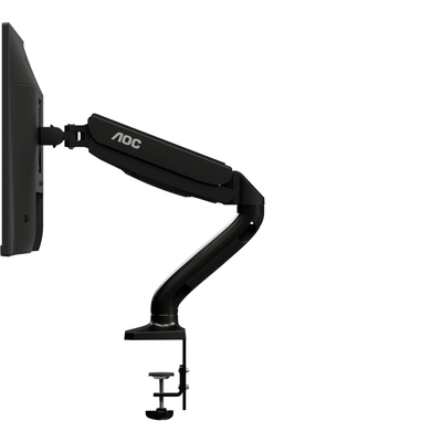 AOC AS110D0 Single Arm Monitorarm - Zwart
