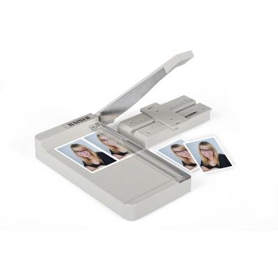 Kaiser fototechnik snijmachine: Guillotine Cutter for application photos and passport photos - Wit