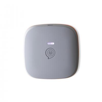 Zens powerbank: Portable Power Pack Black 7800 mAh – Wirelessly Rechargeable - Grijs, Zilver