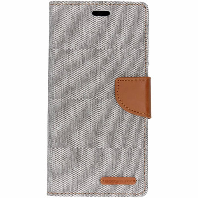 Canvas Diary Booktype Huawei Mate 20 Lite - Grijs / Grey Mobile phone case