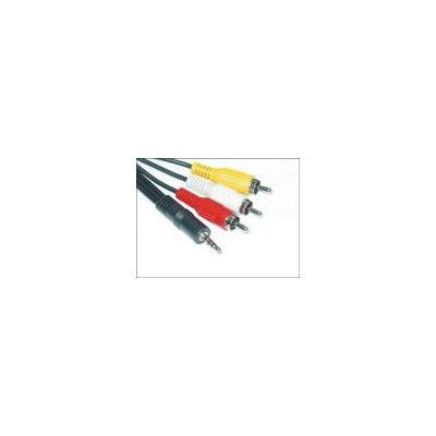 Microconnect : 3.5mm - 3XRCA (1.5m) - Zwart