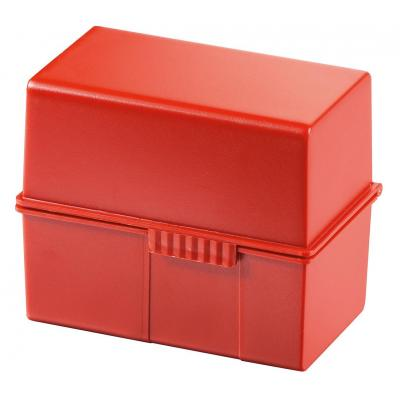 Han kaartenbak: 300 x A7, 121 x 101 x 74 mm, 3 pcs, Red - Rood