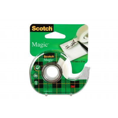 Scotch Magic Tape - Navulbare Dispenser - 19 mm x 15 m Tape afroller - Groen, Wit