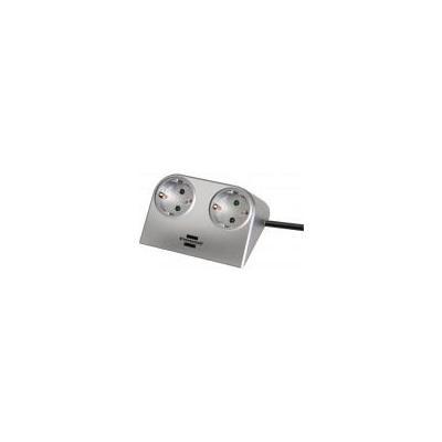 Brennenstuhl surge protector: Desktop-Power - Zilver