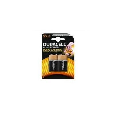 Duracell batterij: 2 x 9V, alkaline - Zwart, Goud