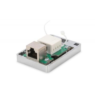 Digitus inbouweenheid: CAT 6 Surface mount box, 1x Keystone Module shielded, 1-port - Zilver