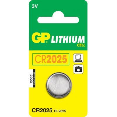 Gp batteries batterij: Lithium Cell CR2025 - Roestvrijstaal