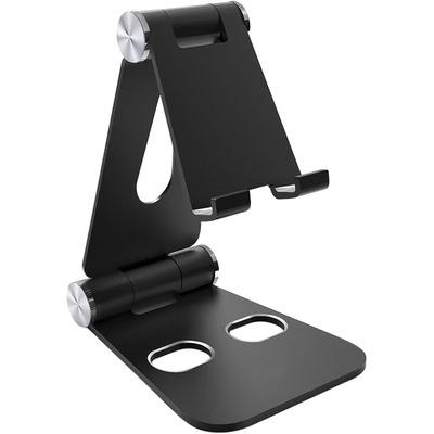 Mobiparts Phone Stand Holder Metal size M - Black Houder - Zwart