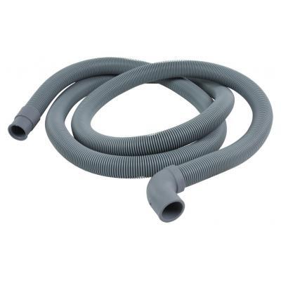 Hq keuken & huishoudelijke accessoire: Outlet hose 22 mm hooked - 19 mm straight 2.00 m - Zwart