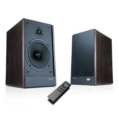 Microlab Speaker: RMS 100W, 2.0, 85dB, dark wood, MDF - Hout