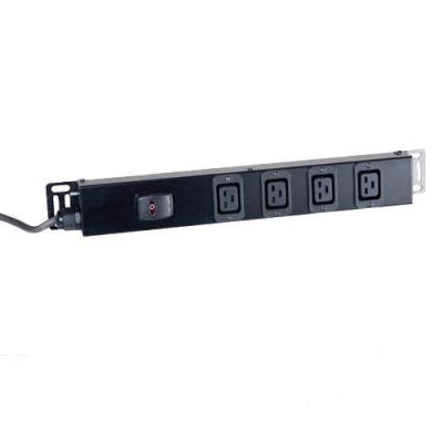 Black Box Standard C19 Power Strip (UK Plug), 6 way Stekkerdoos - Zwart