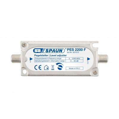 Spaun PES 2200 F Kabel splitter of combiner - Zilver
