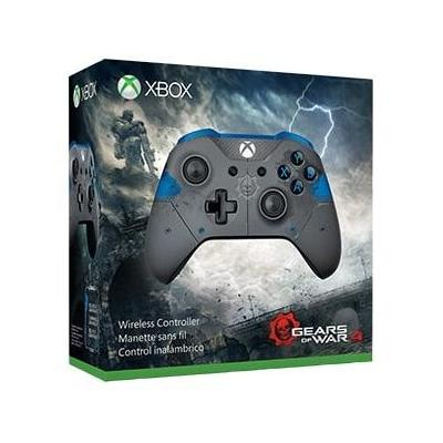 Microsoft game controller: Xbox Gears of War 4 JD Fenix Limited Edition draadloze controller - Blauw, Grijs