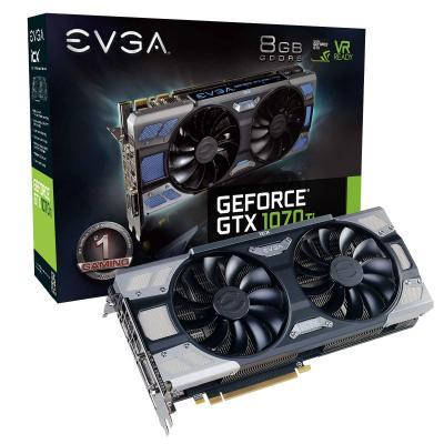 Evga videokaart: GeForce GTX 1070 Ti FTW2 GAMING, 8GB, GDDR5, iCX - 9 Thermal Sensors & RGB LED G/P/M, 1607 MHz, PCI-E .....