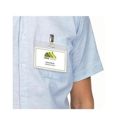 Herma etiket: Inserts for name badges A4 90x54 mm white cardboard perforated non-adhesive 250 pcs. - Wit