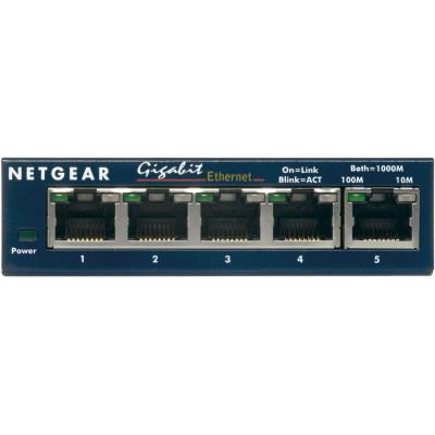 Netgear ProSAFE GS105GE 5-Port Gigabit Unmanaged Switch - Blauw