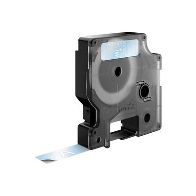 DYMO D1 -Standard Labels - White on Transparent - 12mm x 7m Labelprinter tape