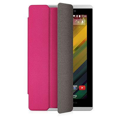 Hp tablet case: Slate 7 VoiceTab Pink Flip Cover - Roze