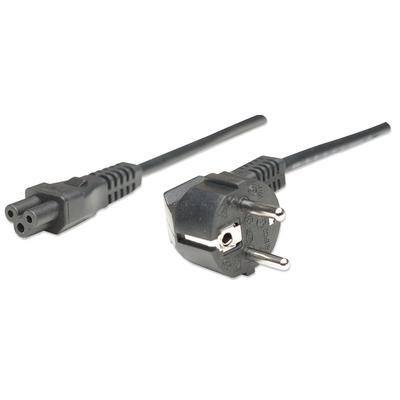 Manhattan Power Cord/Cable, Euro 2-pin (CEE 7/4) plug to C5 Female (triangular), 1.8m, Polybag .....