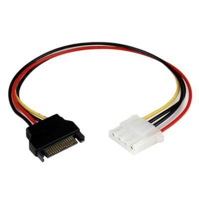 Startech.com electriciteitssnoer: 30 cm SATA-naar-Molex LP4-voedingskabeladapter F/M - Zwart, Rood, Wit, Geel