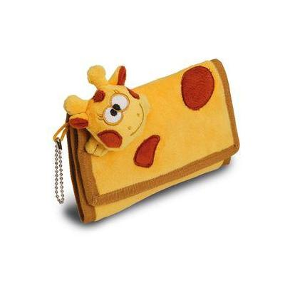 Herma portemonnee: Purse Funny Animals Giraffe - Bruin, Geel