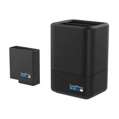 Gopro oplader: Dual Battery Charger + Battery - Zwart