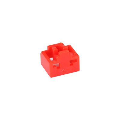 Black Box LockPORT Secure RJ45 Port Lock - Red Electrische connectordop - Rood