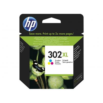 Hp inktcartridge: 302XL High Yield Tri-color Original Ink Cartridge - Cyaan, Magenta, Geel
