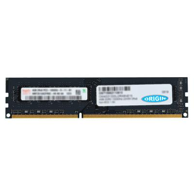 Origin Storage 4GB DDR3 1600Mhz UDIMM 2RX8 Non ECC 1.35V RAM-geheugen - Groen
