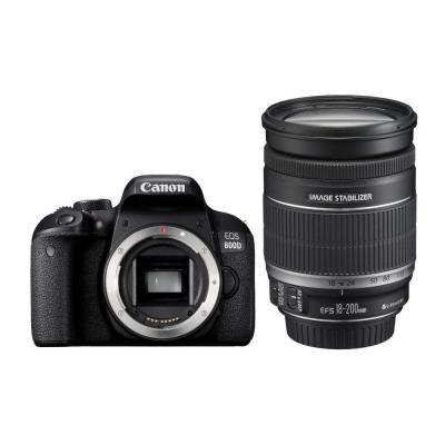 Canon digitale camera: EOS 800D + EF-S 18-200mm F3.5-5.6 IS - Zwart