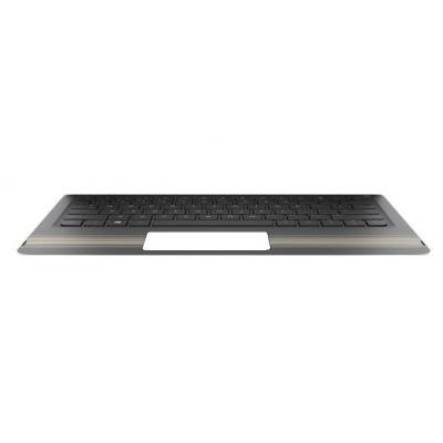 Hp Top Cover & Keyboard (Greece) notebook reserve-onderdeel - Zwart, Goud