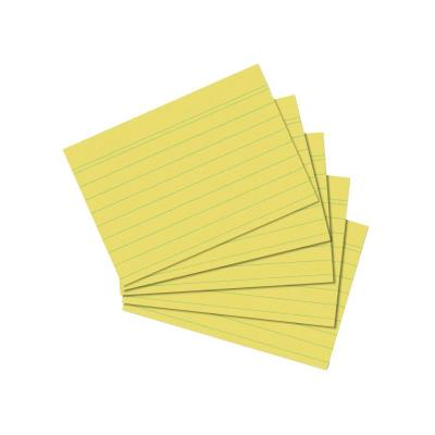Herlitz index card A7 ruled yellow 100 pieces Indexkaart - Geel