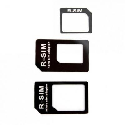 Xqisit Nano+Micro SIM Adapter SIM/flash memory card adapter - Zwart