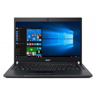 "Acer laptop: TravelMate P648-G2-M-78SP - 14"" i7 8GB RAM 256GB SSD + 1TB HDD - W10 Pro - Zwart, QWERTY"