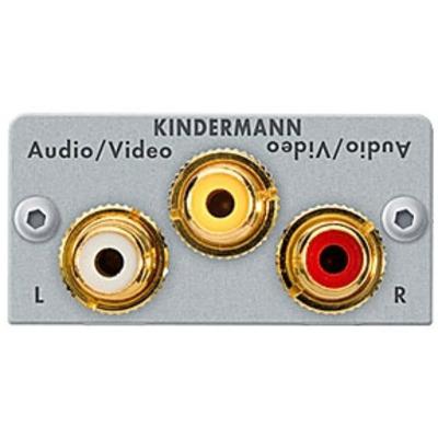 Kindermann Adapter plate Video, audio L/R Kabel adapter - Zilver