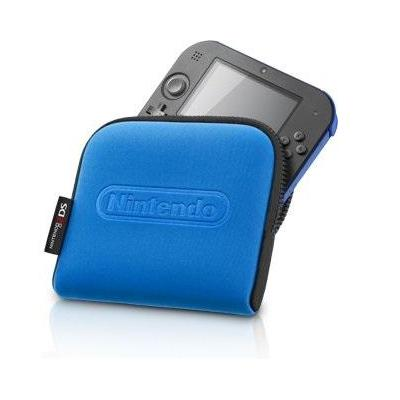 Nintendo portable game console case: 2DS carrying case, Black/Blue - Zwart, Blauw