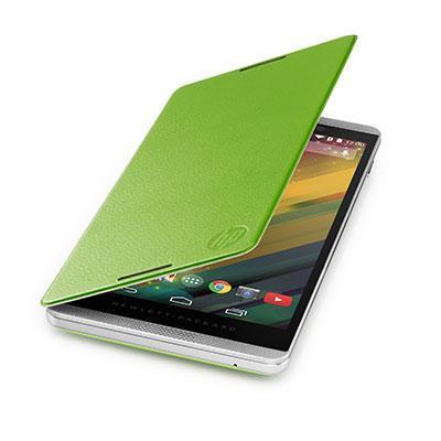 Hp tablet case: Slate 6 VoiceTab Green Flip Cover - Groen