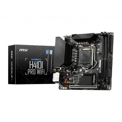 MSI Intel H410, LGA 1200, 2x DDR4, PCIe 3.0 x16, HDMI, DP, SATA III, M.2, USB 3.2, WLAN, 1G LAN, Mini-ITX, 170x170 .....