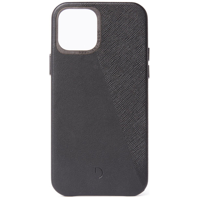 Decoded Dual Leather Backcover iPhone 12 (Pro) - Zwart - Zwart / Black Mobile phone case