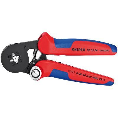 Knipex tang: Zelfinstellende krimptangen voor adereindhulzen met zij-invoering, 0.08 - 10 + 16 mm², AWG 28 - 5 - .....