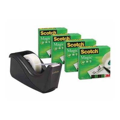 Scotch TAPE MAGIC 19X33 4X + AFROLLER Tape afroller