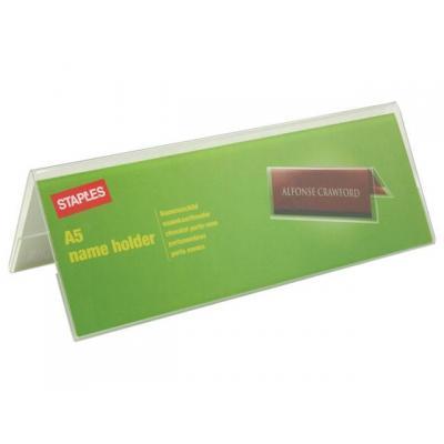 Staples naambadge: Tafelnaambord SPLS A5 210X75mm
