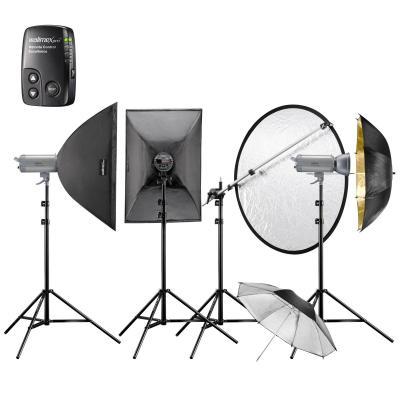 Walimex photo studio equipment set: VC-400/400/300 Excellence - Zwart, Goud, Zilver
