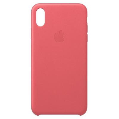 Apple mobile phone case: Leren hoesje voor iPhone XS Max - Pioen - Roze